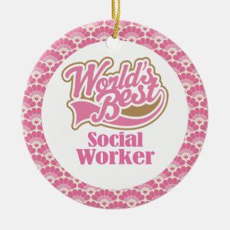 World's Best Social Worker Gift Ornament