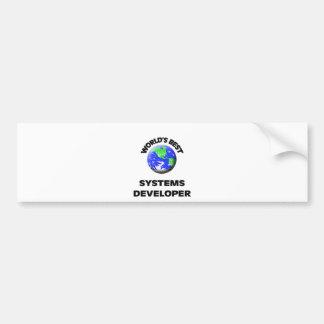 World s Best Systems Developer Bumper Sticker