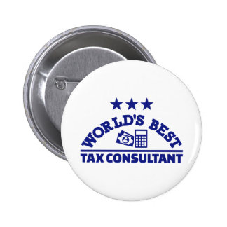 World's best tax consultant 6 cm round badge