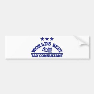 World's best tax consultant bumper sticker