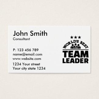 World's best team leader business card