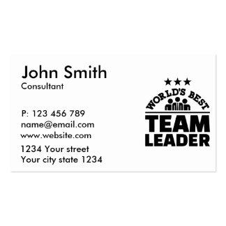 World's best team leader pack of standard business cards