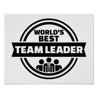 World's best team leader poster