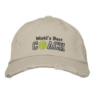World s Best Tennis Coach Embroidered Hats