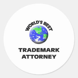 World s Best Trademark Attorney Sticker