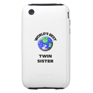 World s Best Twin Sister iPhone 3 Tough Case