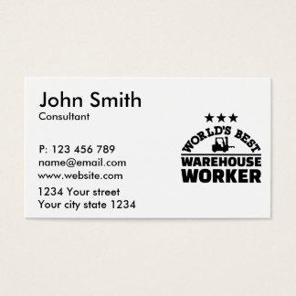 World's best warehouse worker business card