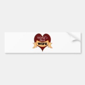 World s Best Wife Bumper Stickers