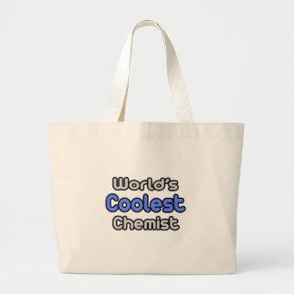 World s Coolest Chemist Canvas Bags
