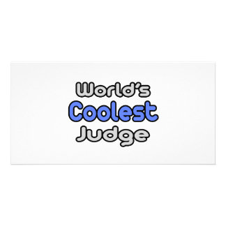 World s Coolest Judge Photo Card