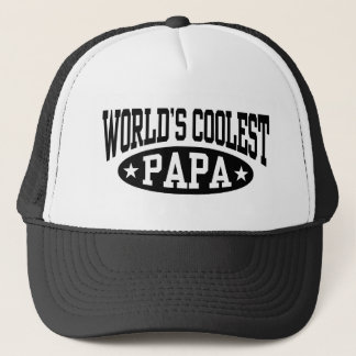World's Coolest Papa Trucker Hat