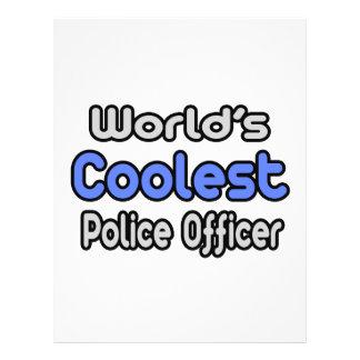 World s Coolest Police Officer Custom Flyer
