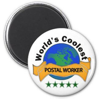 World s Coolest Postal Worker Fridge Magnet