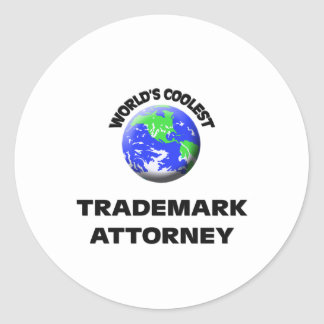World s Coolest Trademark Attorney Round Stickers