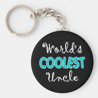 World s Coolest Uncle Keychain