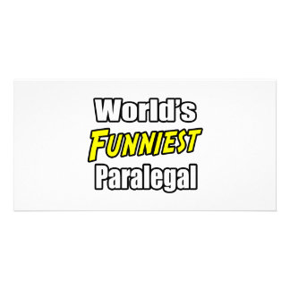 World s Funniest Paralegal Photo Greeting Card