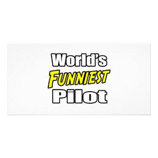World s Funniest Pilot Photo Card Template