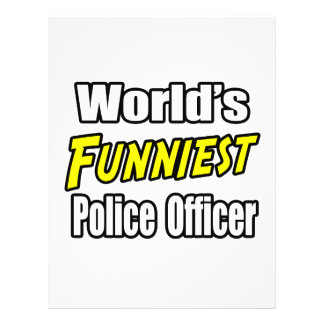 World s Funniest Police Officer Flyers