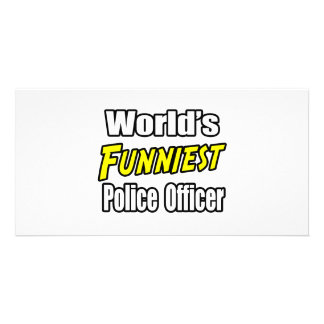 World s Funniest Police Officer Picture Card