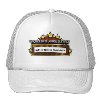 World s Greatest Advertising Manager Mesh Hats