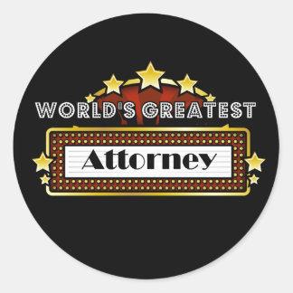 World s Greatest Attorney Sticker