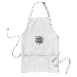 World s Greatest Boss Aprons