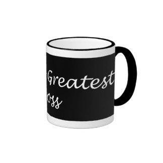World s Greatest Boss Black White Mug