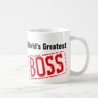 World s Greatest Boss coffee mug