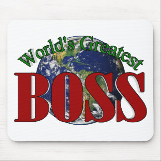 World s Greatest Boss Mouse Pad