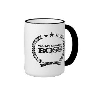 World s Greatest Boss Vintage coffee mug