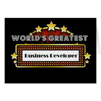 World s Greatest Business Developer Card