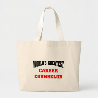 World s greatest career counselor tote bag