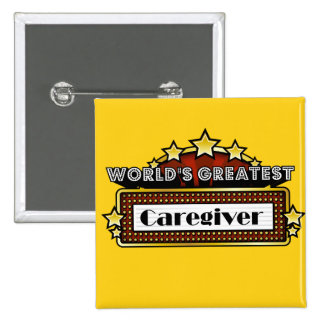 World s Greatest Caregiver Buttons