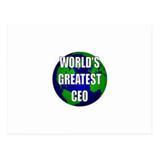 World s Greatest CEO Postcard