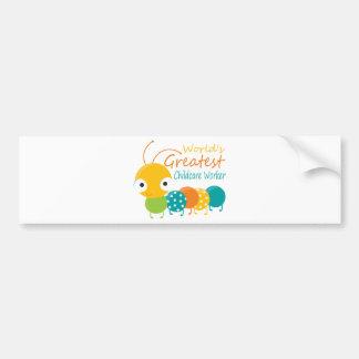 World s Greatest Childcare Worker Bumper Sticker