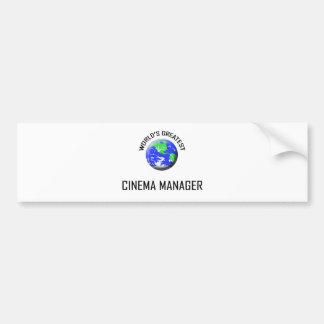 World s Greatest Cinema Manager Bumper Sticker