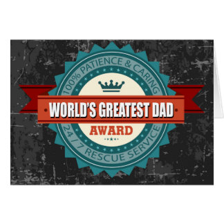 World s Greatest Dad Vintage Greeting Card