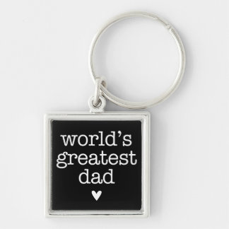 World s Greatest Dad with Heart Father s Day Key Chains