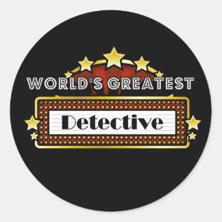 World s Greatest Detective Round Sticker