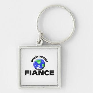 World s Greatest Fiance Keychain