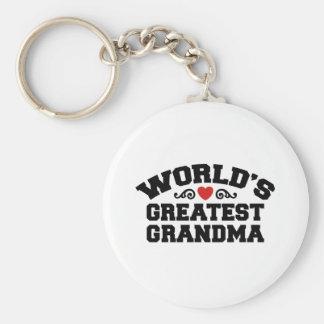 World s Greatest Grandma Key Chain