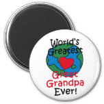 World's Greatest Great Grandpa Heart Refrigerator Magnets