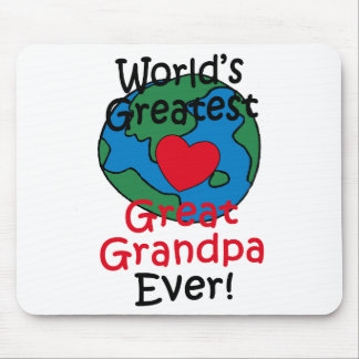 World's Greatest Great Grandpa Heart Mouse Pad