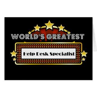 World s Greatest Help Desk Specialist Card