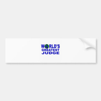 World s Greatest Judge Bumper Stickers