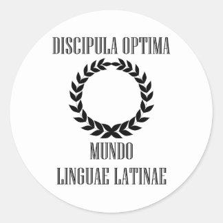 World's Greatest Latin Student (Female) Classic Round Sticker