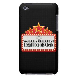 World s Greatest Legal Records Clerk iPod Touch Case