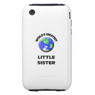 World s Greatest Little Sister Tough iPhone 3 Case