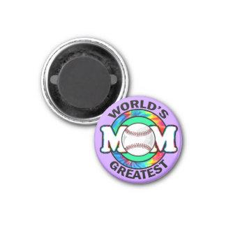 World s Greatest Mom Softball Fridge Magnets