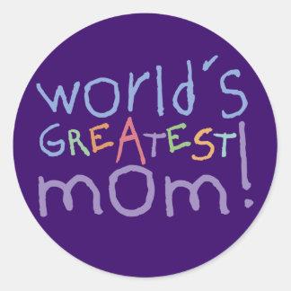 World s Greatest Mom Stickers